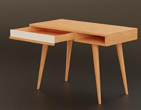Minimalist Desk Modern Design LowPoly 3D model