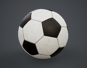 Football Soccer Ball PBR Game Ready 3D asset