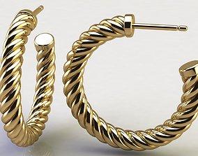 3D print model Cable Hoop Earrings