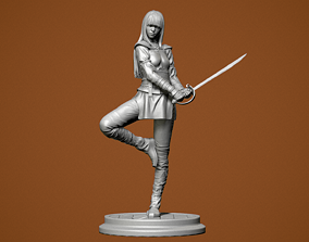 3D printable model Girl with a sword china