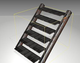 Futuristic Stairs - 15 - Rusty Textures 3D asset