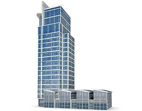 3D High Glass Skyscraper