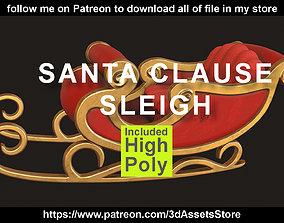 3D model Environment - Christmas Santa Claus Sleigh