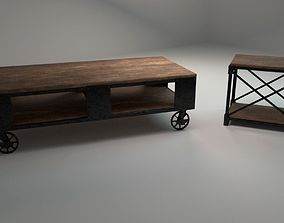 Cofee table and chair asset 3D model