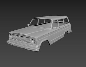 Jeep Grand Wagoneer 1973 Body For Print