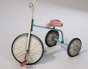 3D asset game-ready Children bicycle