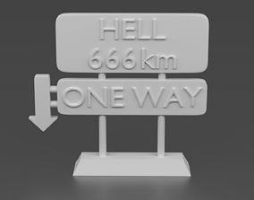 3D print model HELL Street sign