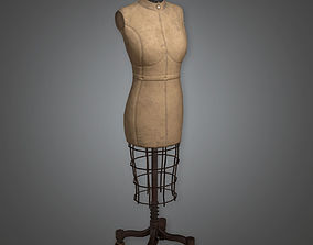 3D model Old Woman Mannequin Antiques - PBR Game Ready