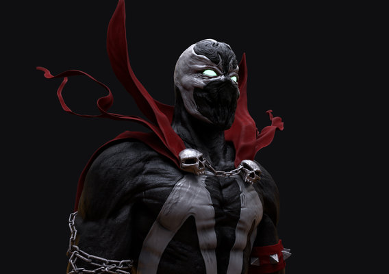 Spawn bust sculpt