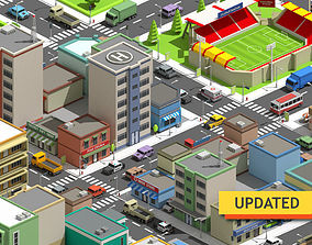 SimplePoly City - Low Poly Assets 3D model