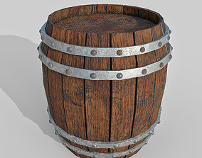 Barrel 3D asset low-poly PBR