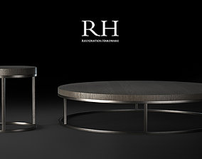 RH Nicholas Round Side and Coffee Modern Tables 3D