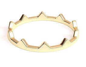 Minimalist Crown Ring 3D print model