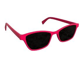 Female modern sun glasses 3D model