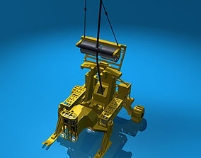 rov Cable deploy robot 3D