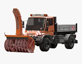 Snow Plow Truck MB Unimog U500 3D model