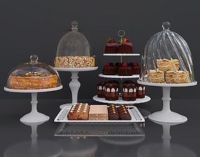 Cake bar Peanut and Honey cake 3D model miscellaneous