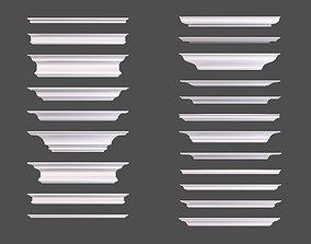 Set of Cornice Profiles 3D model