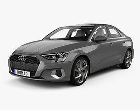 3D model Audi A3 sedan with HQ interior 2020