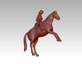 3D print model woman rider