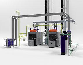 Viessmann Vitoplex 300-390 industrial boilers 3D model