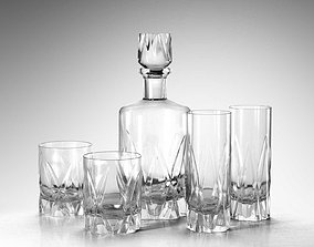 3D Icebreaker Decanter and Tumblers