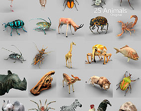 25 Animals - Original 3D model