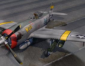 3D model Republic P-47D-25 Thunderbolt -