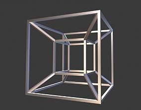 3D printable model contemporary Tesseract