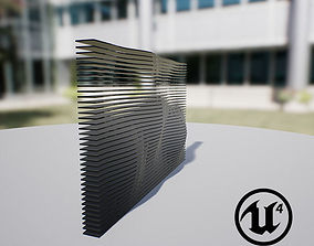 Waving Wall Panel B 3D model