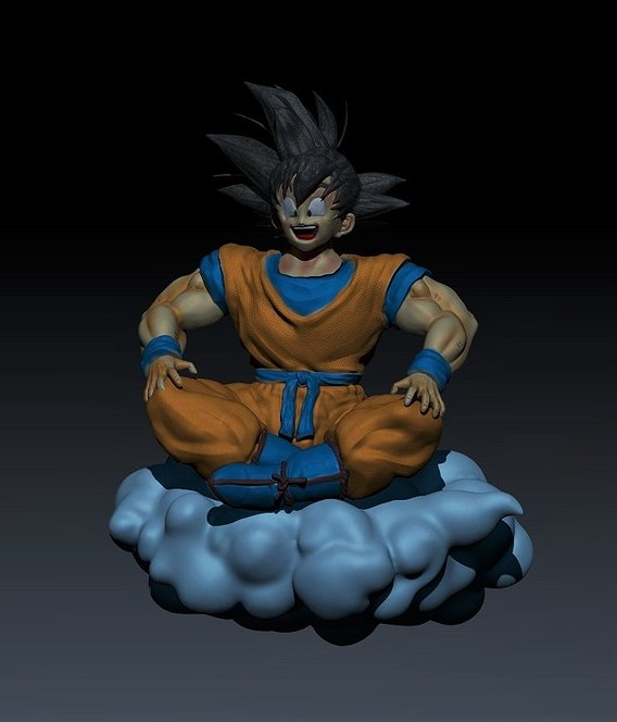 Goku on cloud