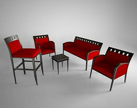 chairs and more chairs set 3D model