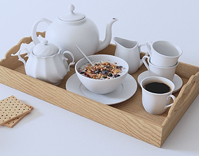 3D asset Breakfast Tea Set