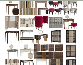 Chest of drewers and wardrobe Collection 3d model
