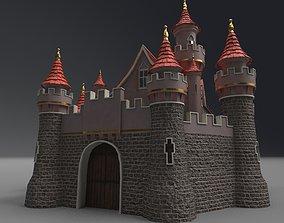 3D architecture building Castle