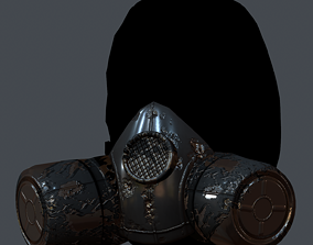 realtime Gas mask helmet 3d model scifi 4