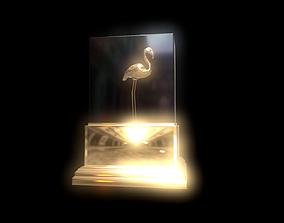 Gold Flamingo 3D model