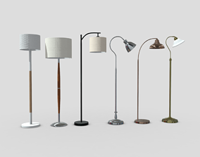 3D asset realtime Standing Lamp Pack