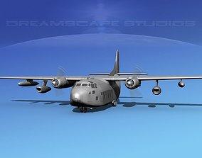 Fairchild C-123K Bare Metal 3D model