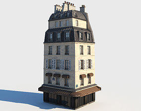 Corner paris building 3D model