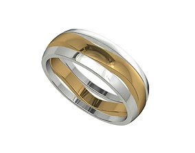 Wedding Band Ring For Men STL File ready For 3