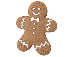 Photorealistic Gingerbread Man 3D Scan man