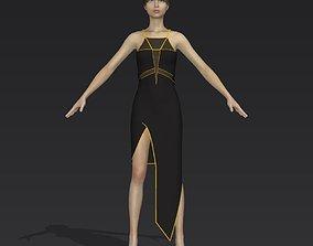 Black dress clothes 3D model