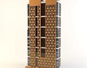Modern high-rise building 3D