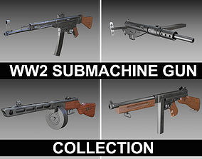 weapon 3D WW2 Submachine guns - Collection