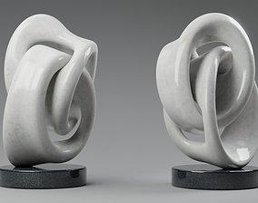 Modern abstract sculpture 037 3D asset