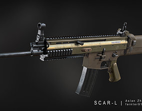 game-ready MK 16 SCAR-L Gameready Lowpoly Asset