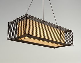 KAI Rectangular Hanging Lamp - Slim 3D cobonpue