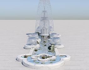 Crystal Fountain 3D