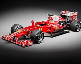 F1 F60 2009 midpoly 3D Model